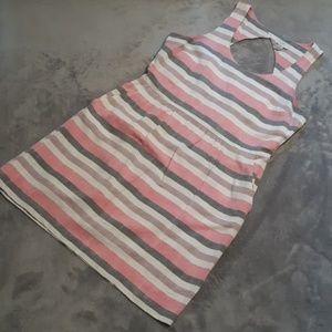 Loft women's size 12 open back sleeveless dress